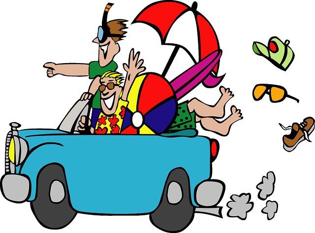 Clipart cars summer. Free cartoon car driving
