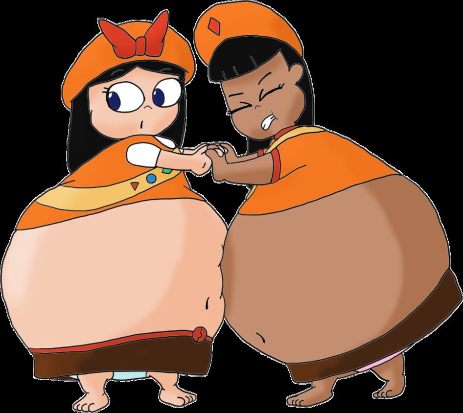 Wrestlers clipart sumo wrestler. Ginger and isabella wrestling