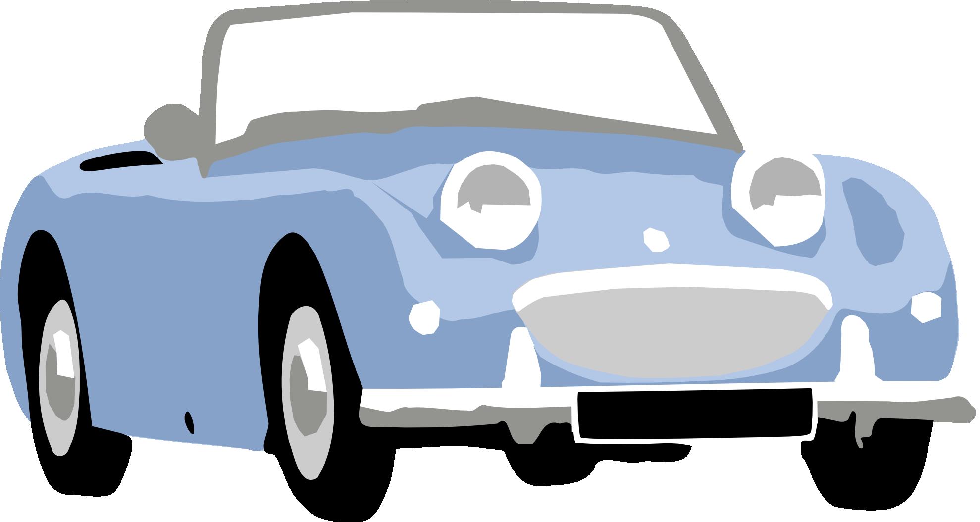 Clipart cars train. Blue car automobile