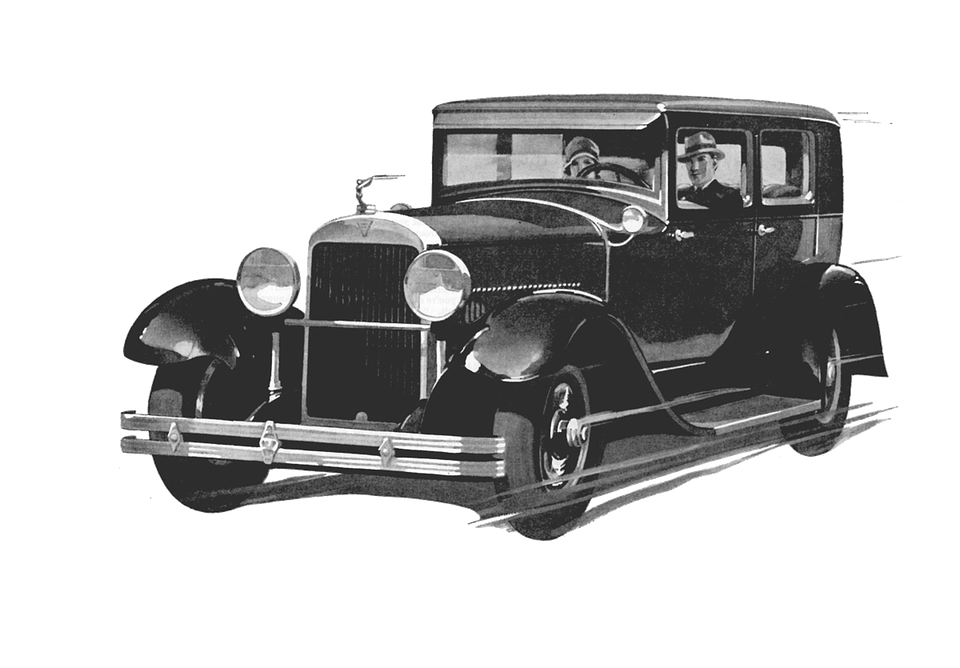 Old black car drawing. Clipart cars transparent background