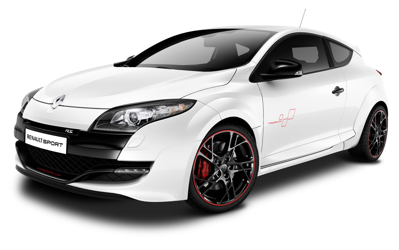 Clipart cars trophy. White renault megane rs