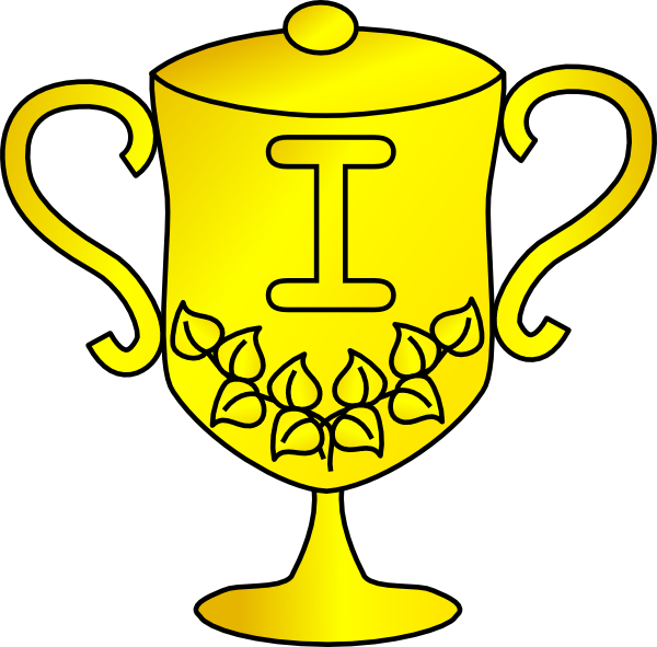 Black and white panda. Clipart shield trophy