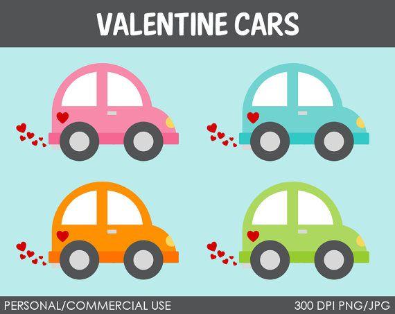Clipart cars valentine. Vehicles digital clip art