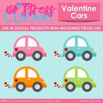Vehicles clip art digital. Clipart cars valentine