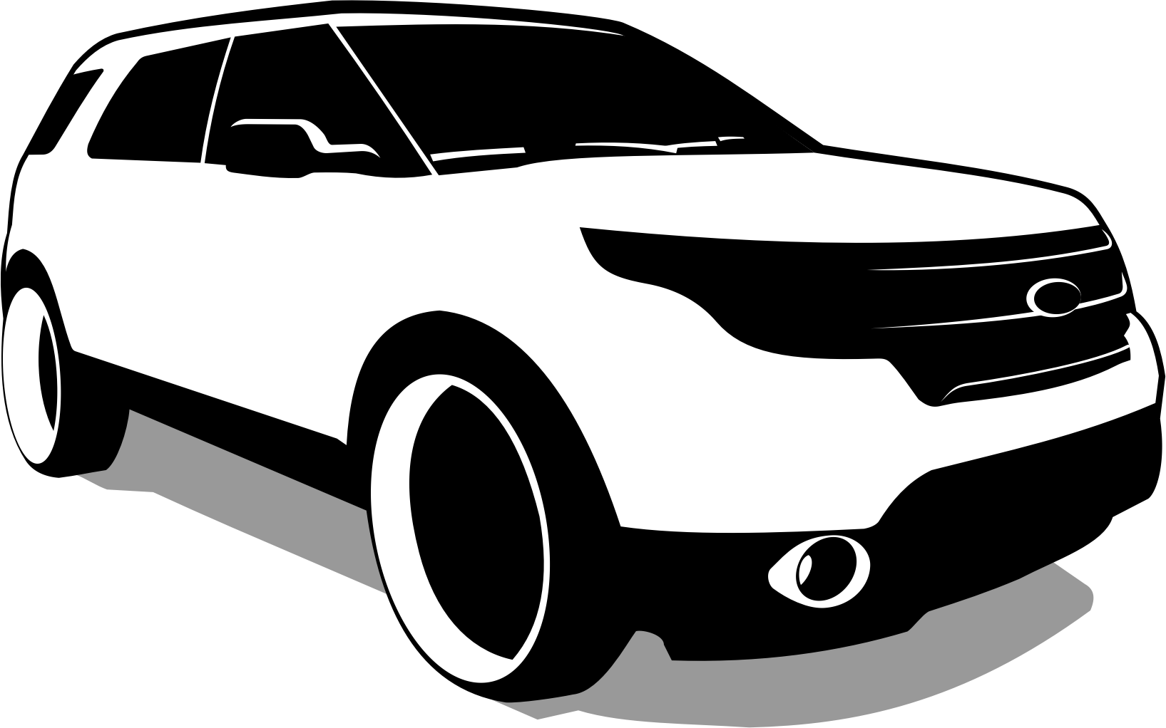 Clipart cars vector. Ford transparent pencil and