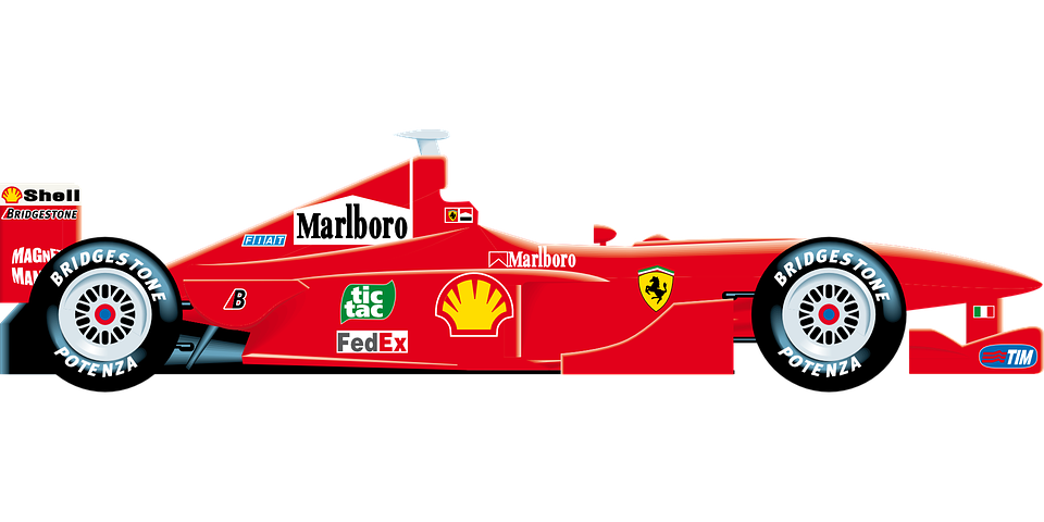 Clipart cars vector. Ferrari motor racing pencil