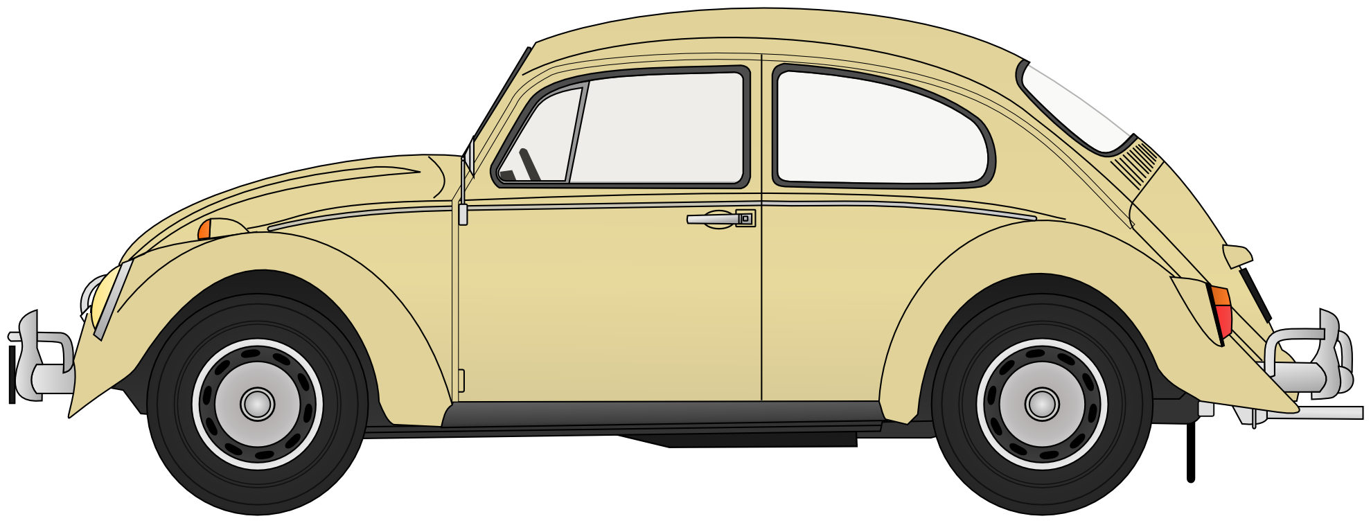 Clipart cars yellow. Free volkswagen beetle cliparts