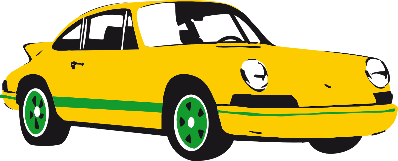 Car black and white. Clipart cars yellow