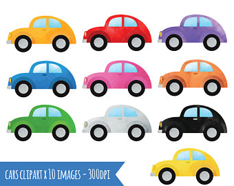 Clipart cars. Watercolor vehicles download automobiles