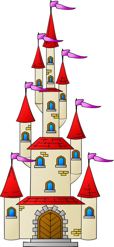 Free friendly looking. Clipart castle