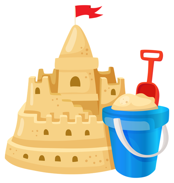 Clipart castle animated. Sand png image summer
