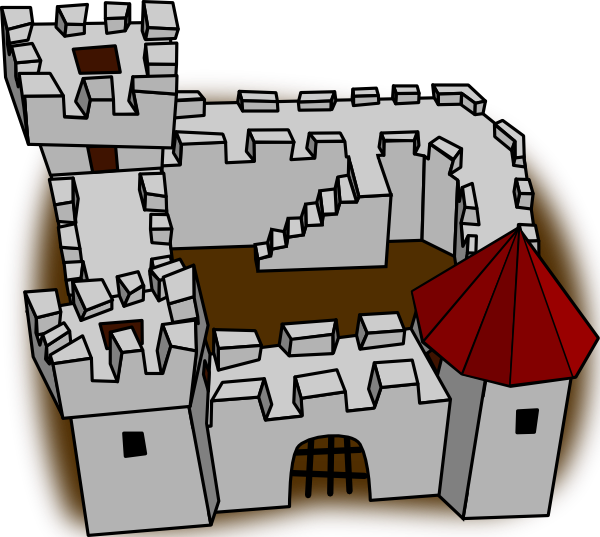 Ugly non perspective cartoony. Clipart castle animated
