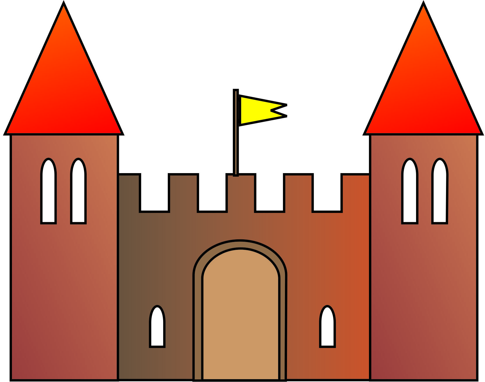 Clipart castle basic. Simple free download best