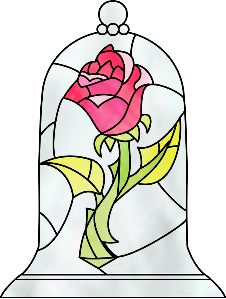 Rose clipart animated. Beauty and the beast