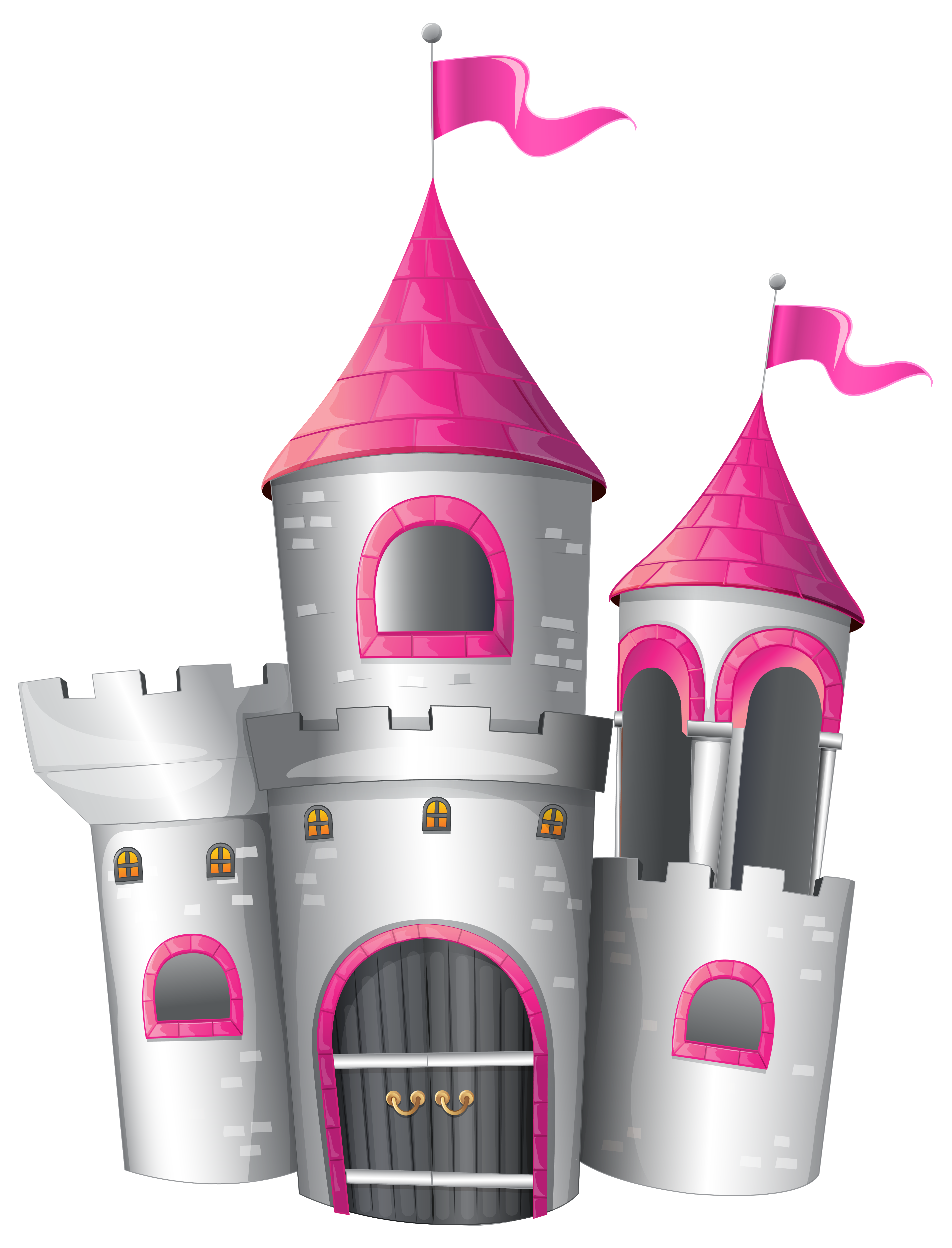 Palace clipart transparent. Pink castle white and