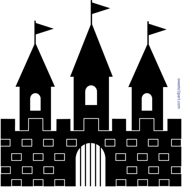 Clipart castle black and white. Sweet clip art page