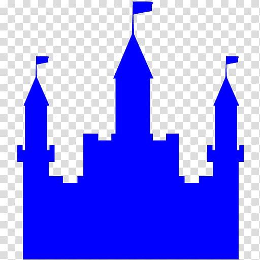 Silhouette transparent background png. Clipart castle blue