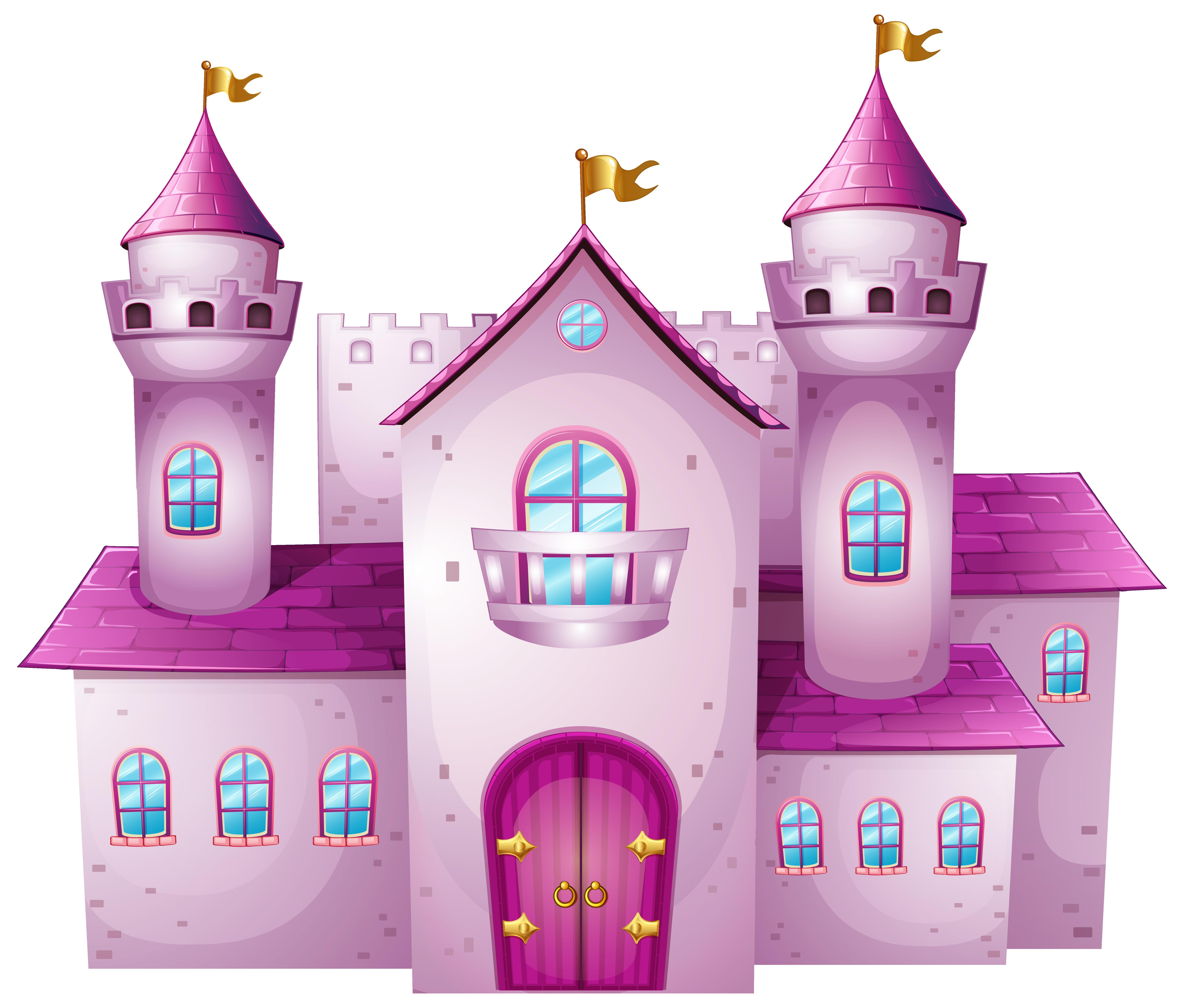 Clipart castle blue. Pink png clip art