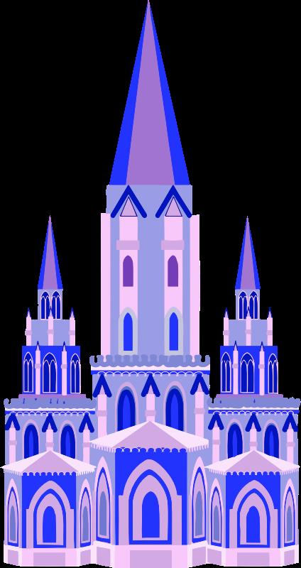 Fairytale medium image png. Clipart castle blue