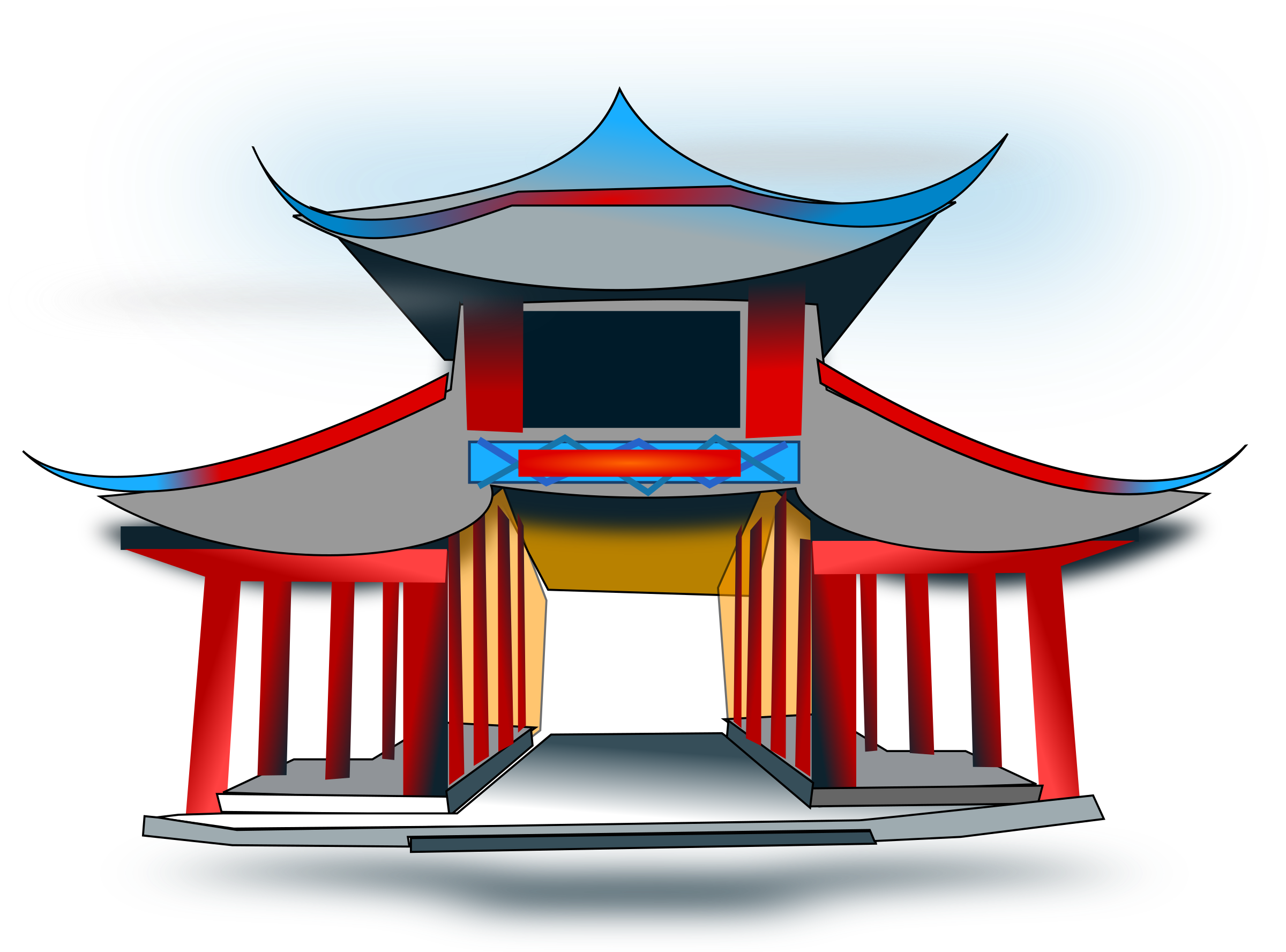 Architecure big image png. Clipart castle chinese
