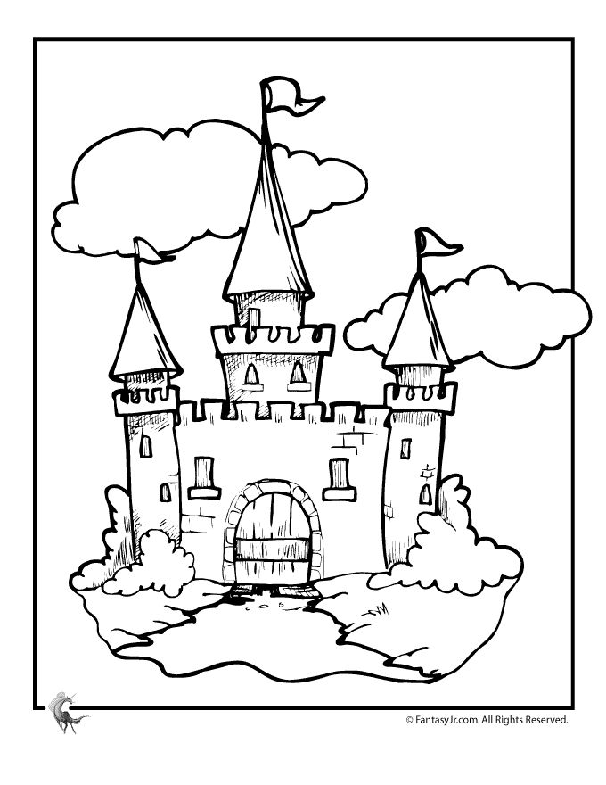 Free pictures of castles. Clipart castle colour