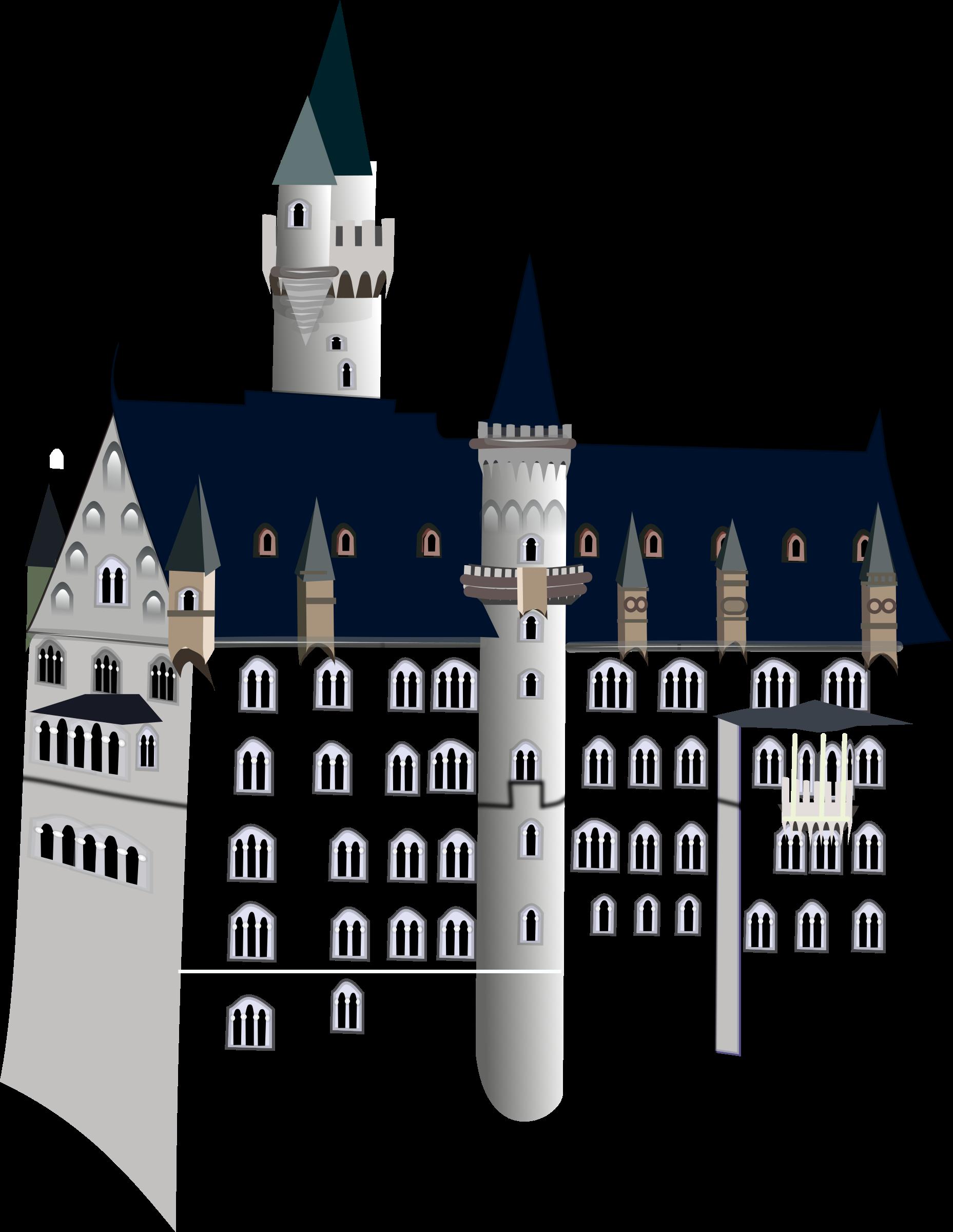 Clipart castle colour. Neuschwanstein big image png
