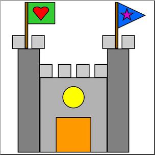 Clipart castle colour. Clip art basic shapes