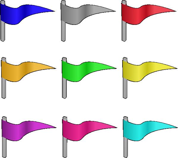 Colored flags clip art. Clipart castle colour