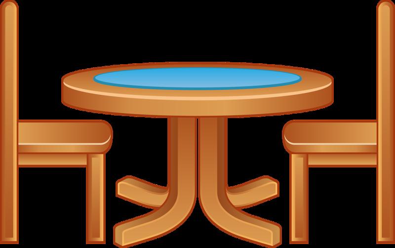 Furniture clipart table chair, Furniture table chair ...