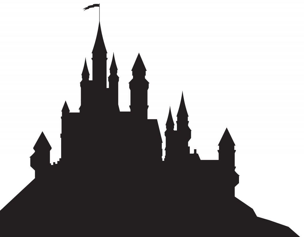 Clipart castle disney. Hogwarts silhouette seomybrandcom