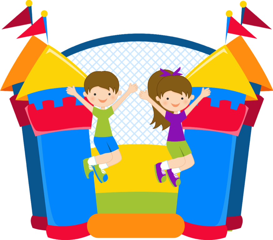 Bouncy castle drawing at. Draw clipart kid responsibility
