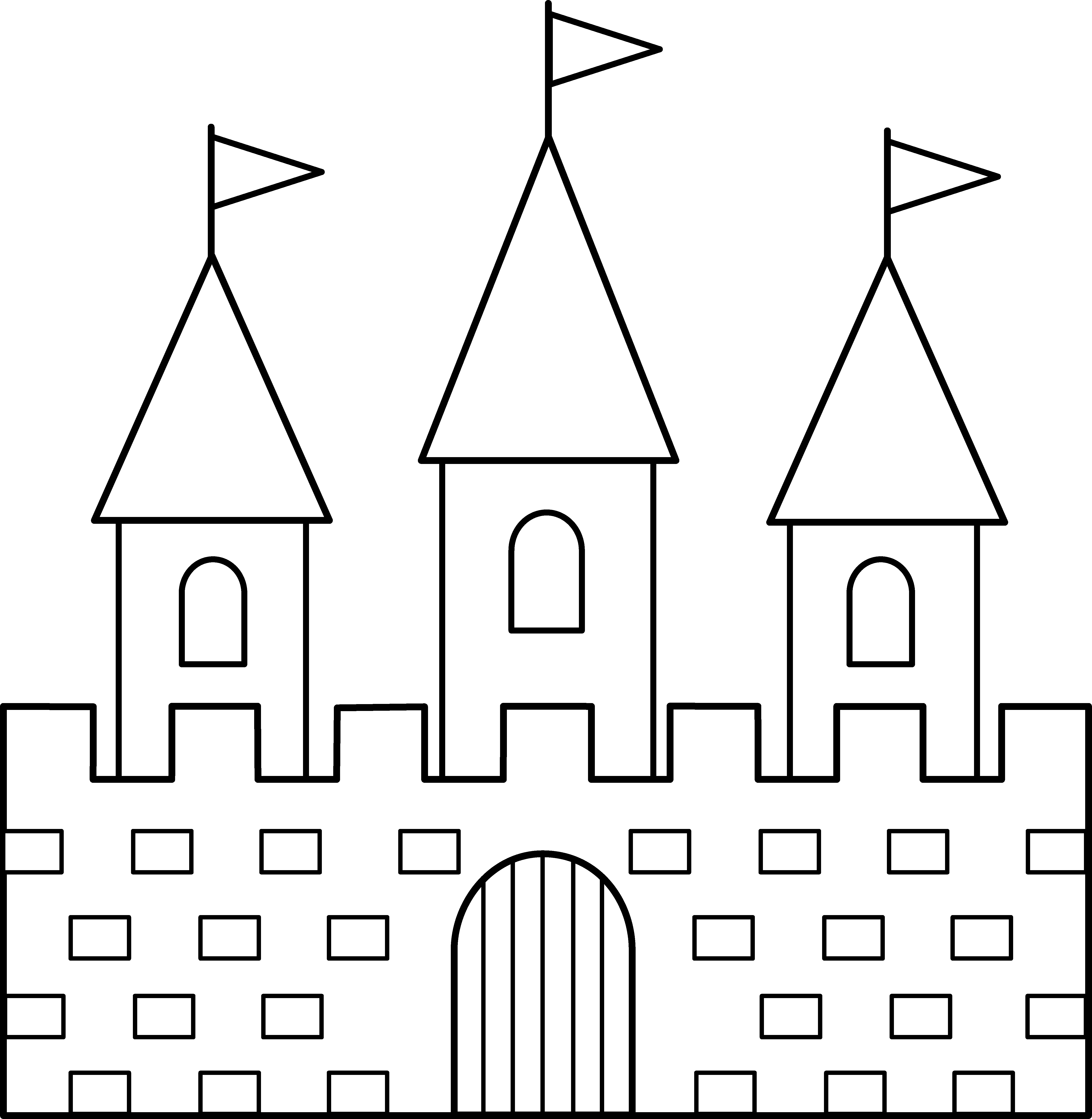 collection of castle. Palace clipart line