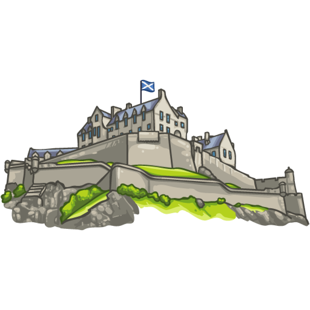 Clipart castle edinburgh castle. Wallabee collecting and trading