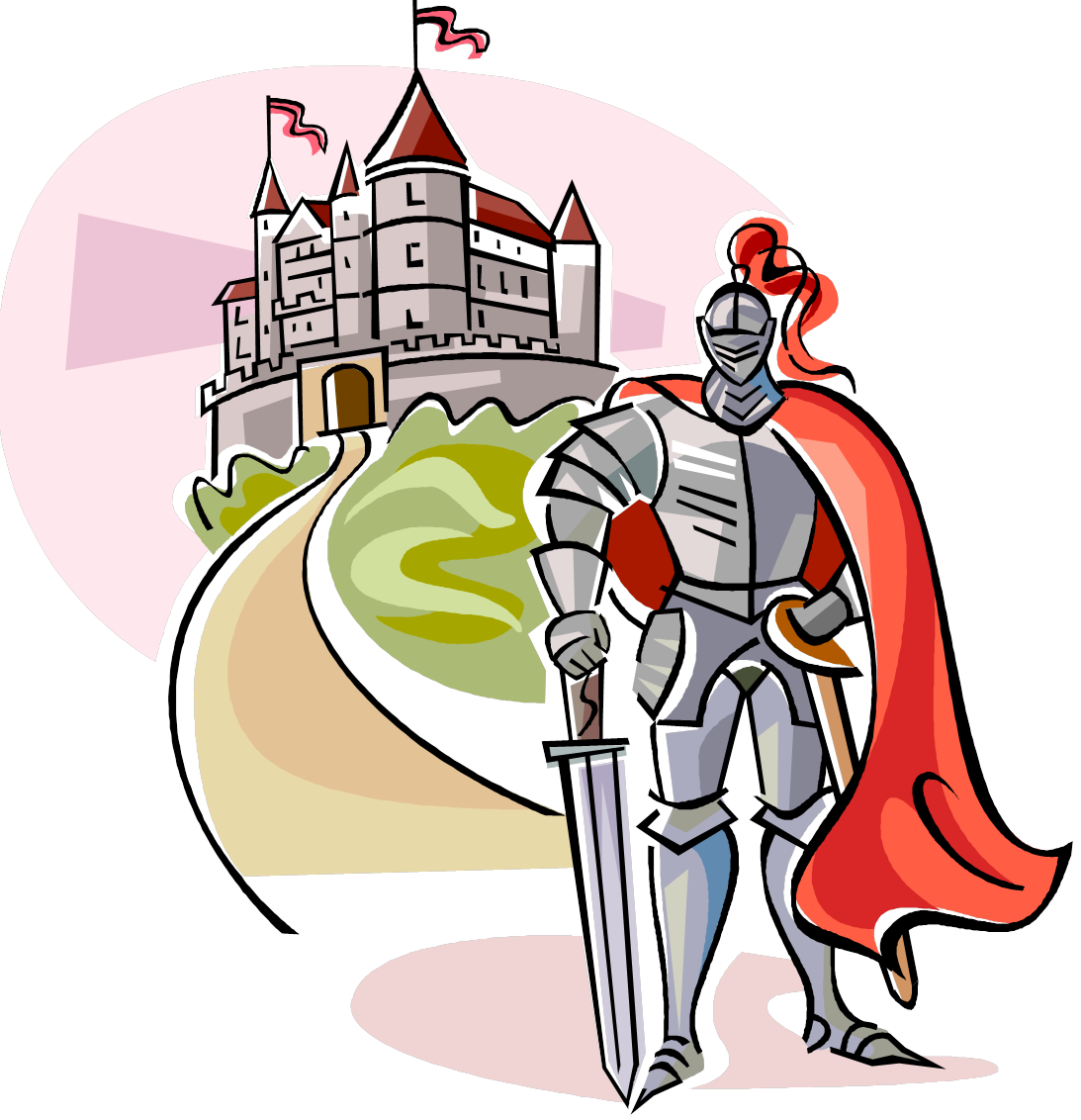 Middle ages knight clip. Clipart castle england