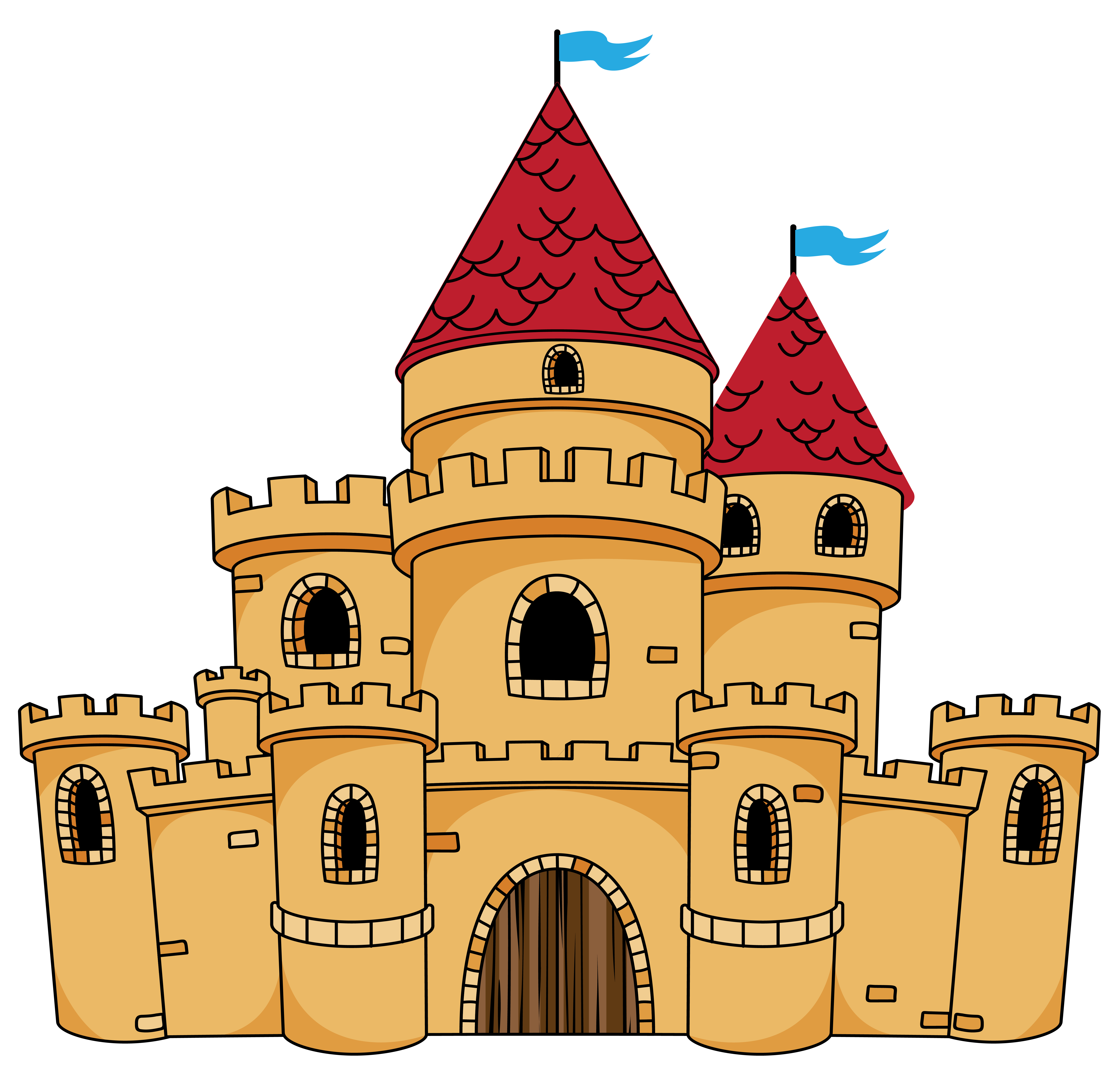 Cup clipart medieval. Castle cartoon drawing clip
