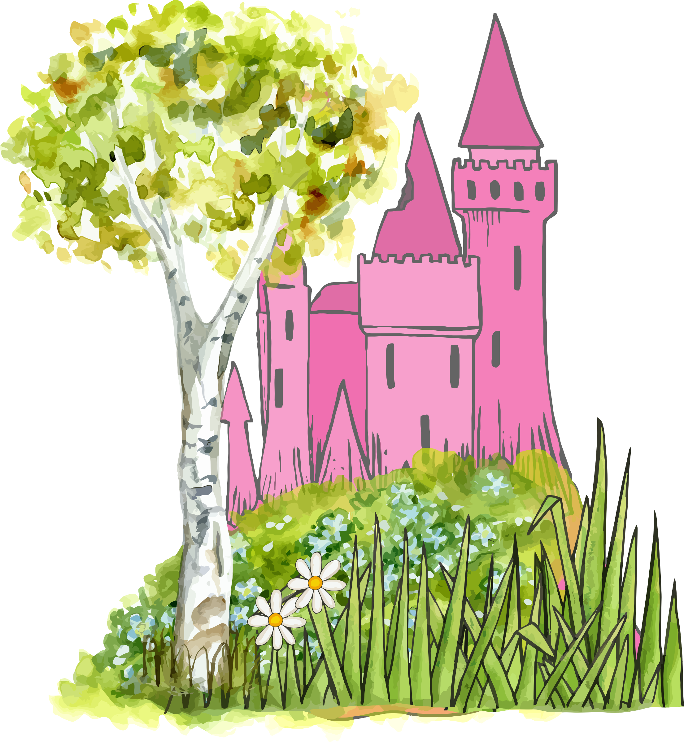 Castle icons png free. Fairytale clipart fantasy story