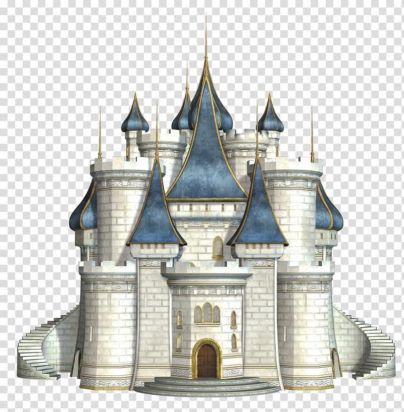 Clipart castle fantasy. Gray illustration transparent