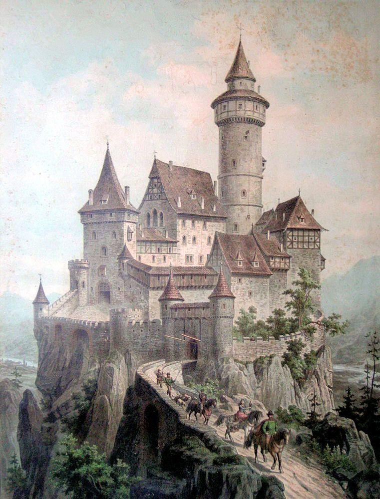 Free vintage clip art. Clipart castle fantasy