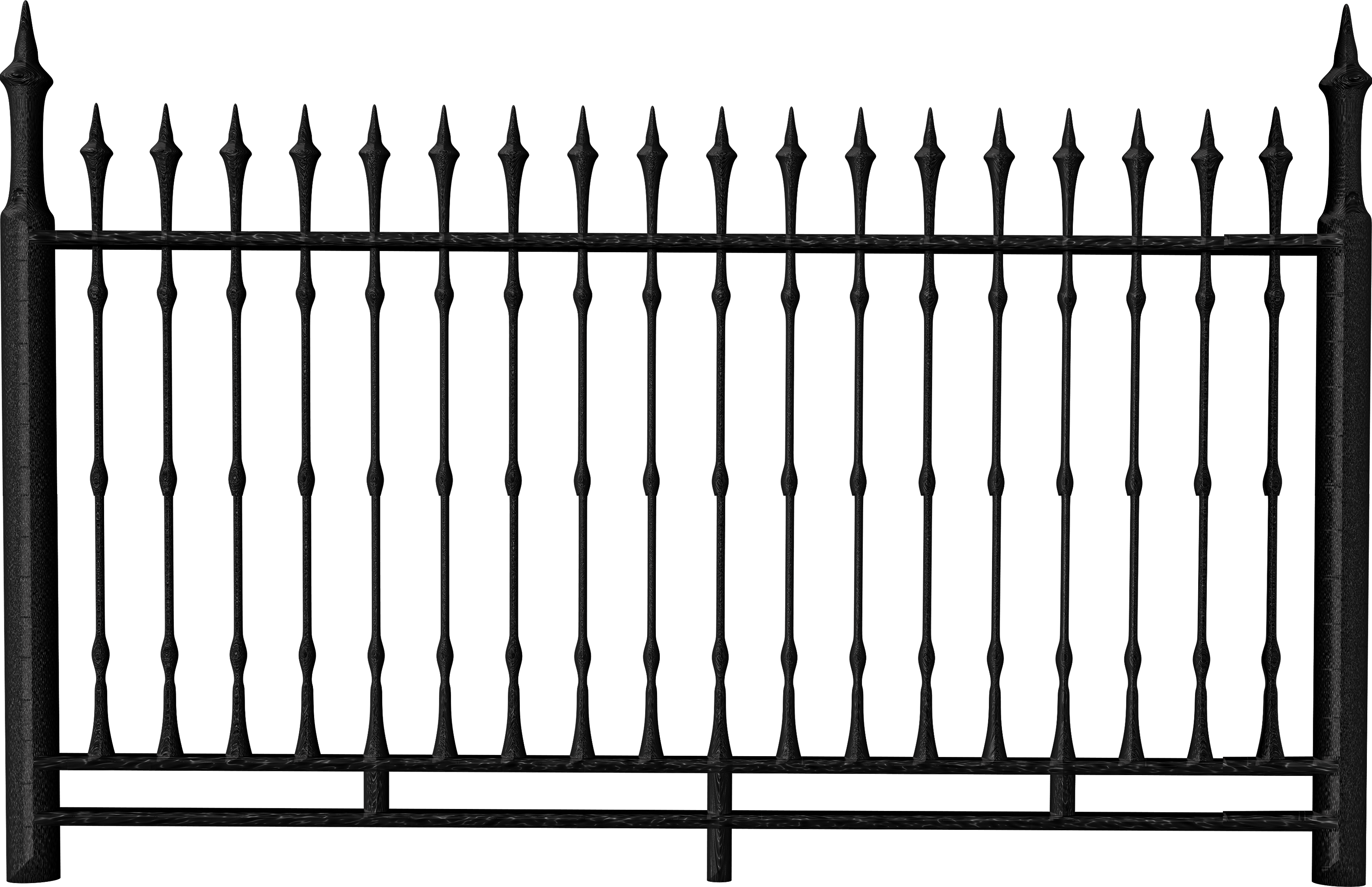 Clipart halloween gothic. Fence iron railing clip