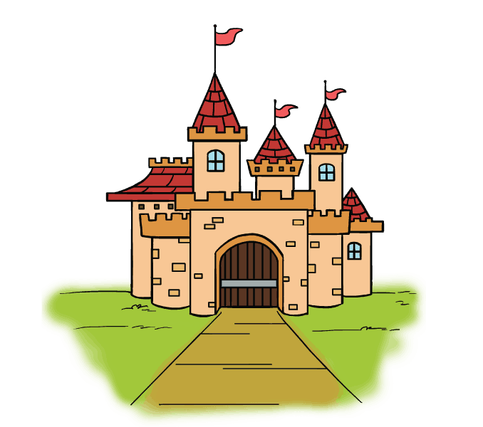 Palace clipart blue castle. How to draw a