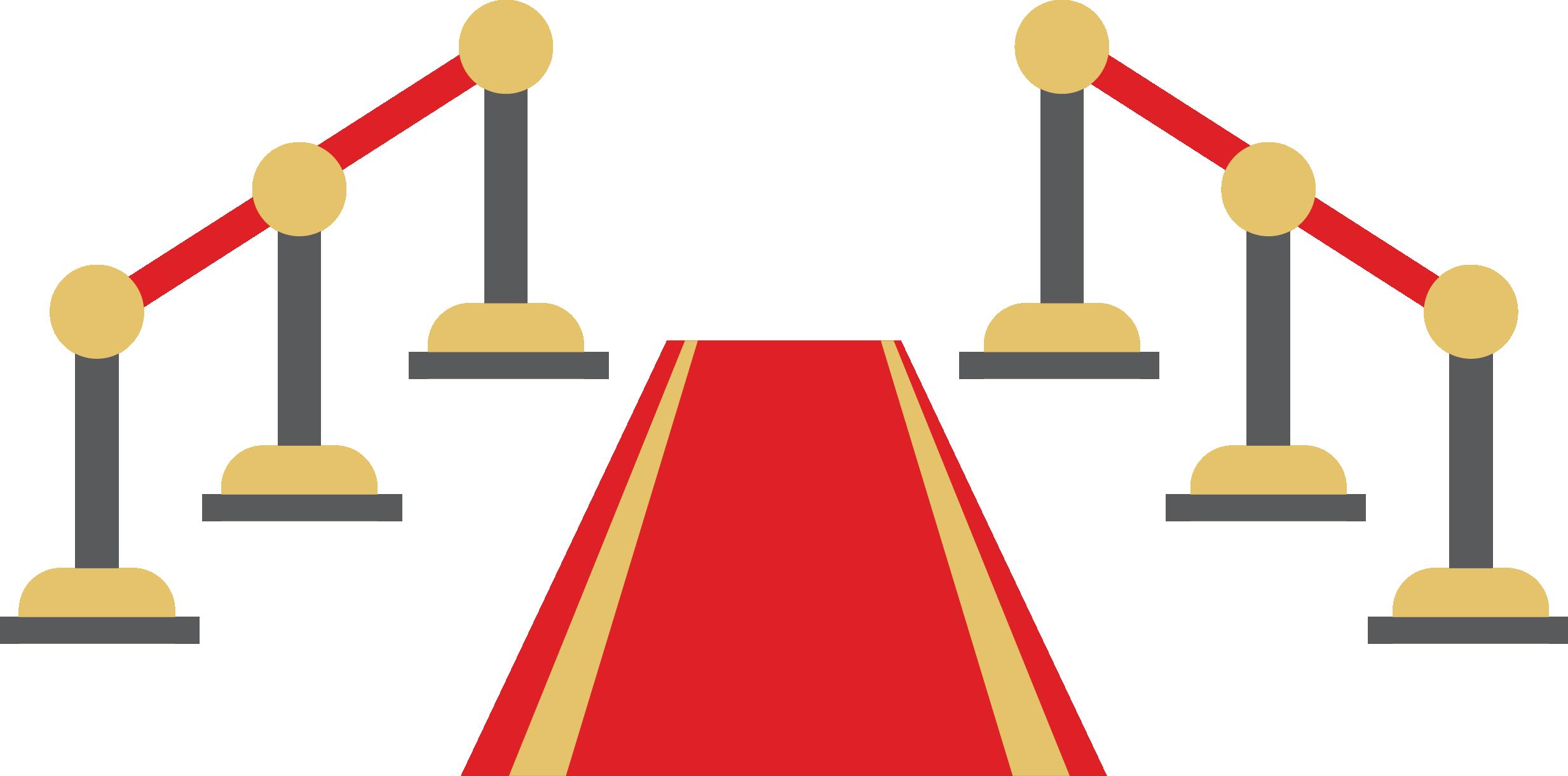 Curtain red carpet
