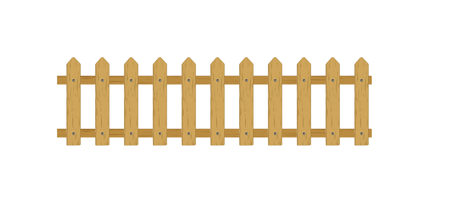 Fencing clipart old fence. Cartoon clip art transprent