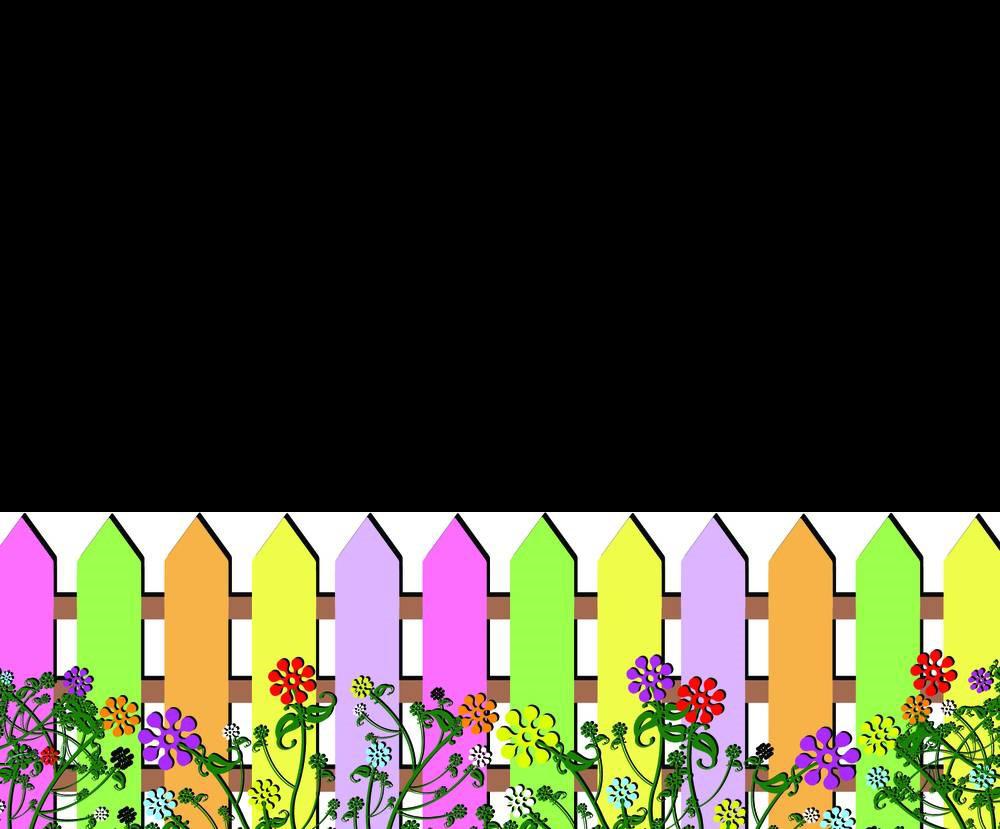 Color clip art transprent. Pencils clipart fence