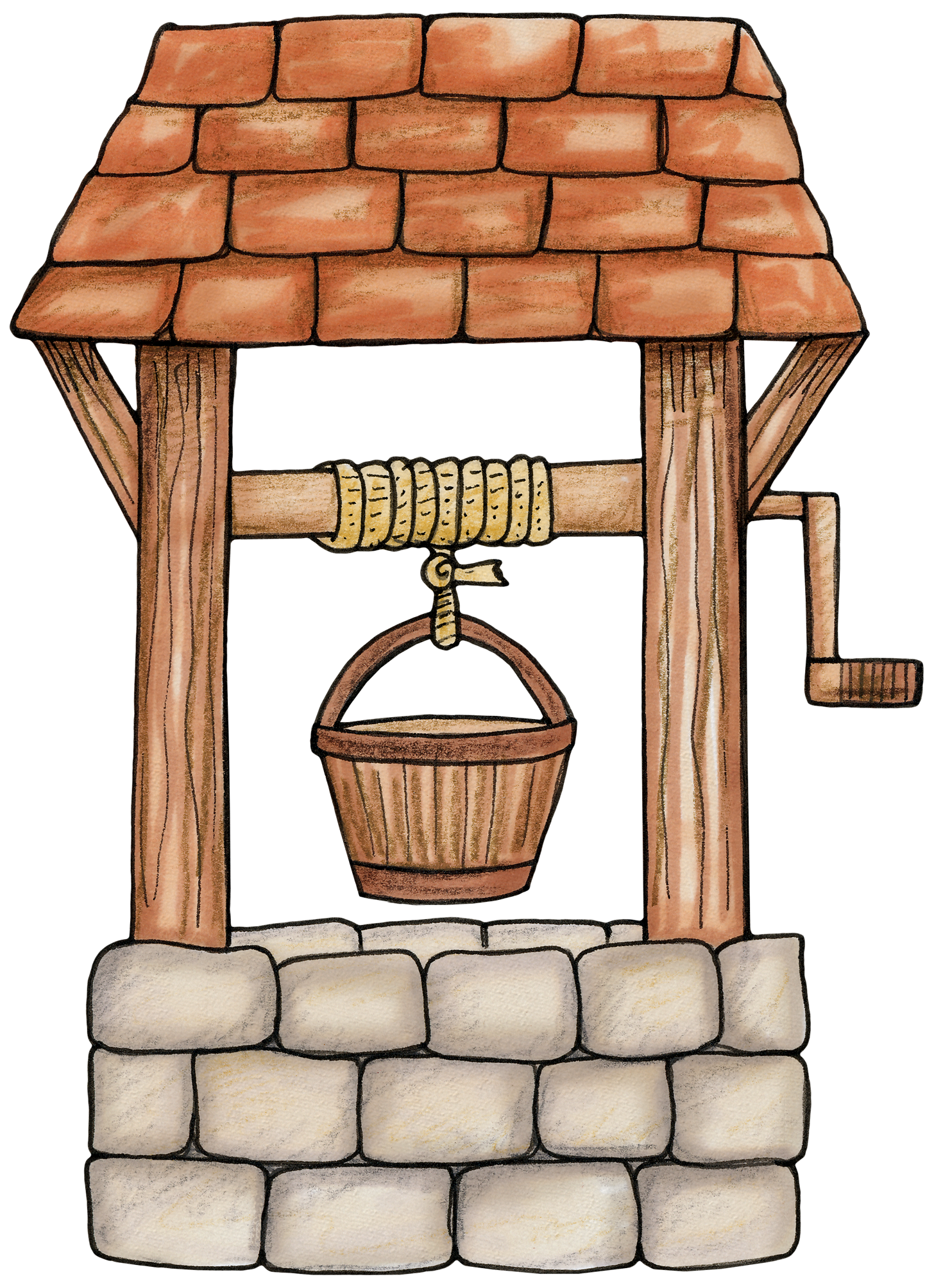 Wishing well for a. Clipart castle forest