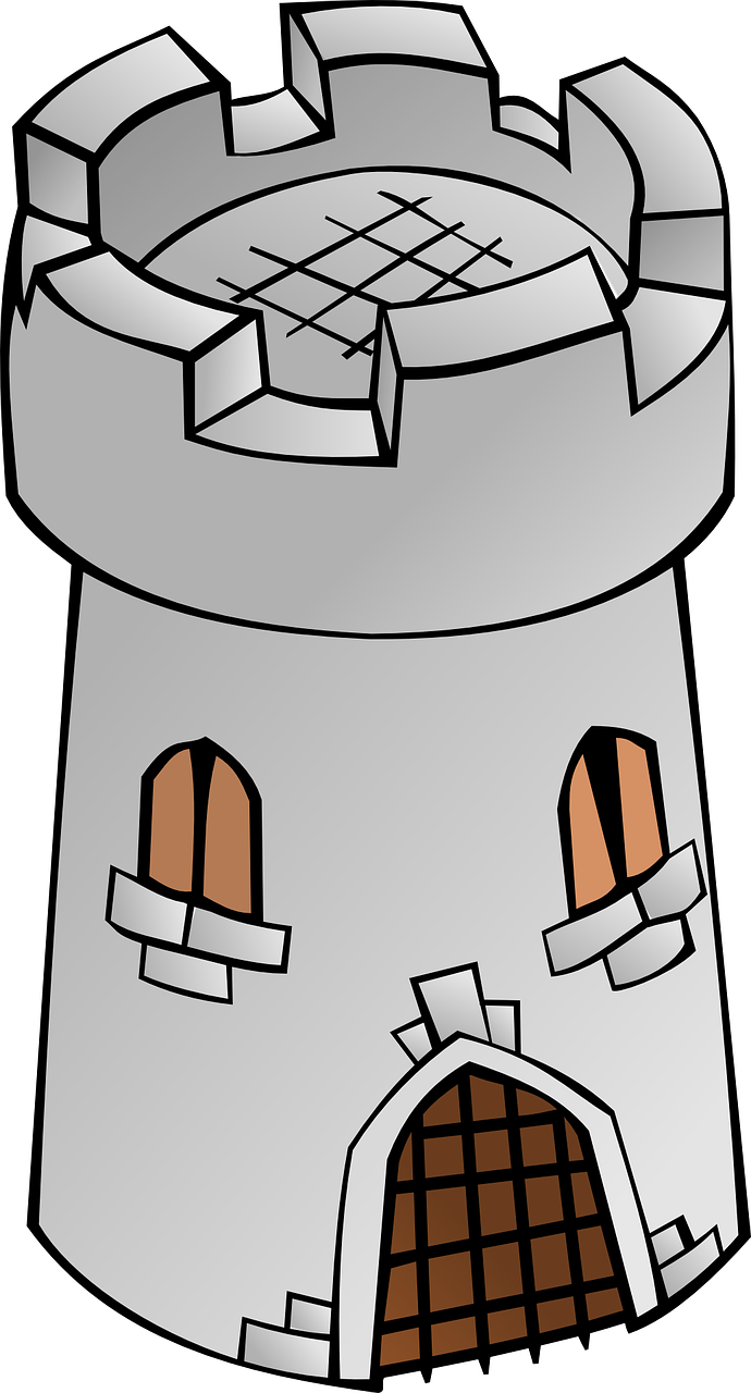 Palace clipart castle welsh. Tower fortress old