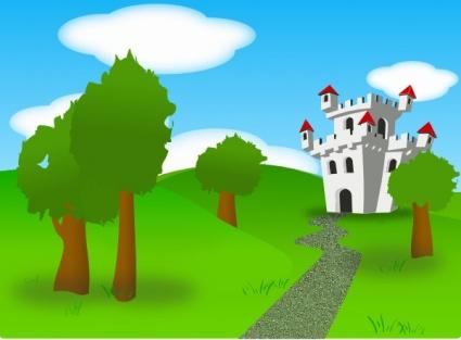 Clipart castle garden. Clip art library