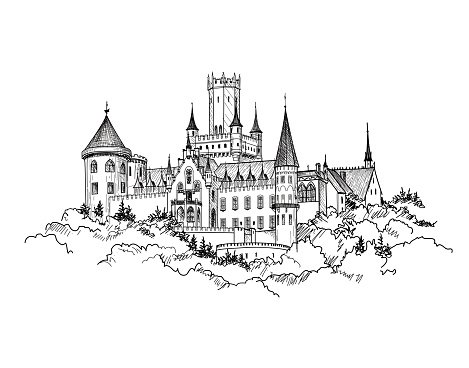 Clipart castle germany. Famous german travel tower