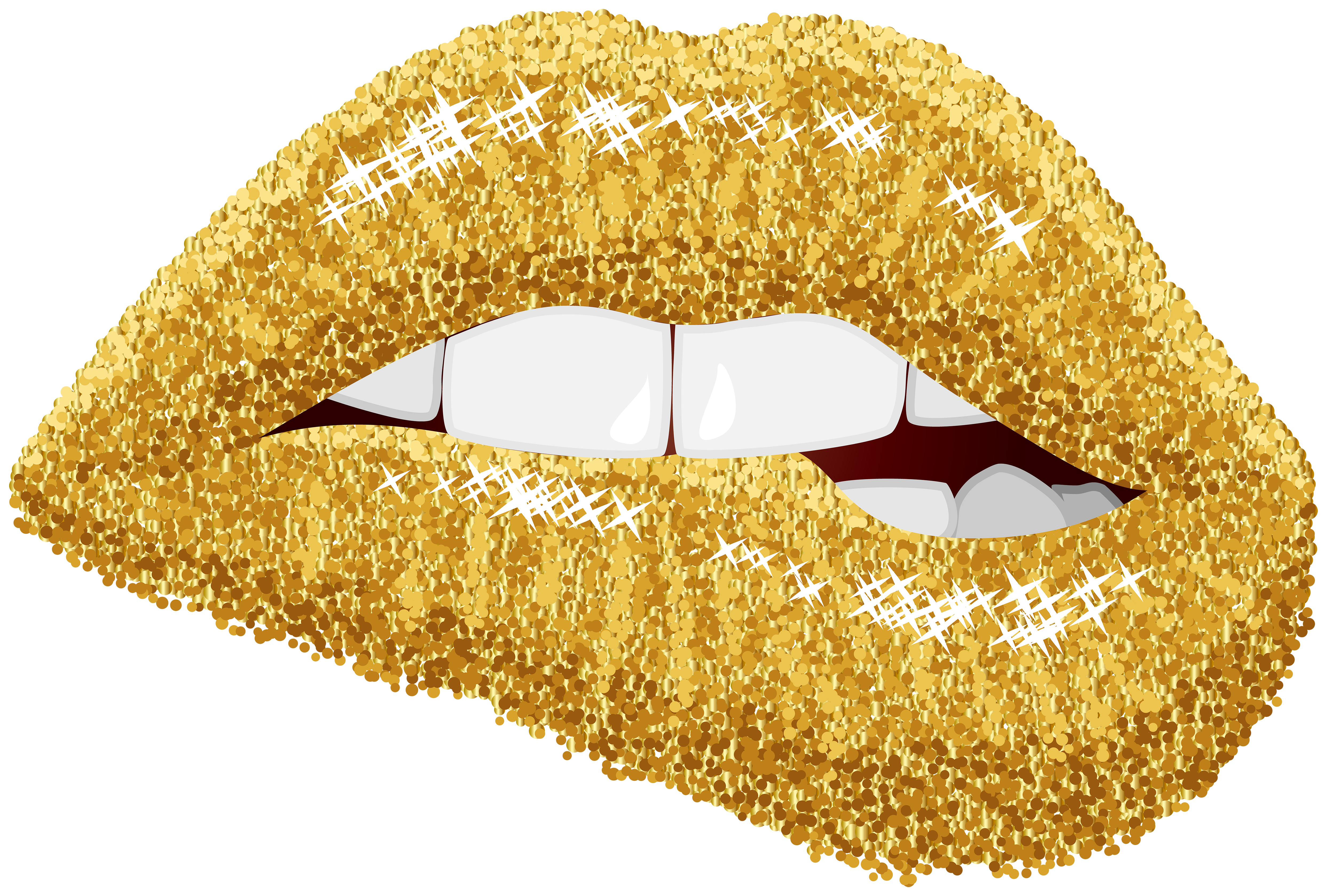 Lip clip art lips. Clipart castle gold glitter