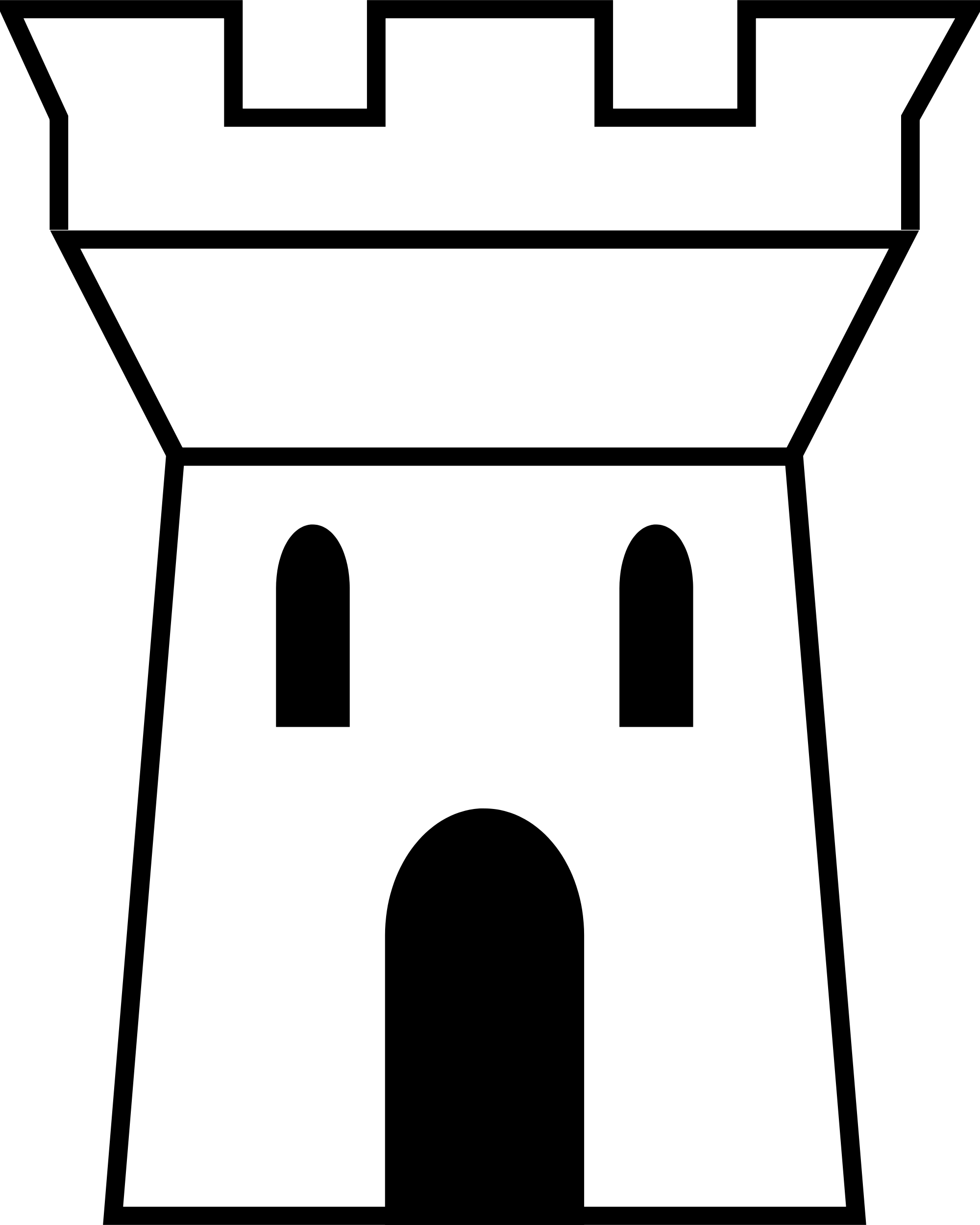 Castle tower drawing at. Draw clipart show