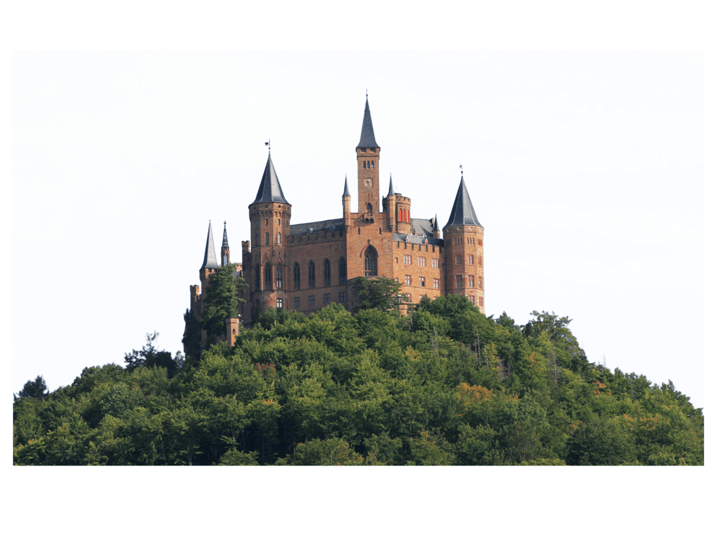 Castle on hill png. Hills clipart transparent